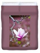 Pink Magnolia Flower Duvet Cover