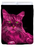 Pink Maine Coon Cat - 3926 - Bb Duvet Cover