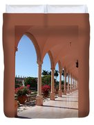 Pink Marble Colonnade Duvet Cover