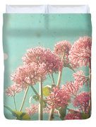 Pink Milkweed Duvet Cover
