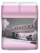 Pink Motel Duvet Cover