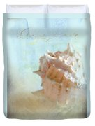 Pink Murex Seashell Duvet Cover