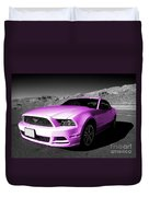 Pink Mustang  Duvet Cover