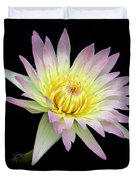 Pink N Yellow Water Lily Too Duvet Cover