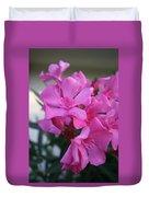 Pink Oleander Bunch Duvet Cover