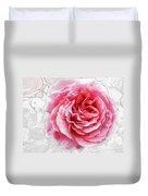 Pink On White Duvet Cover