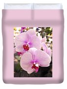 Pink Orchid Duo Duvet Cover