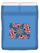 Pink Orchid Kaleidoscope 2 Duvet Cover