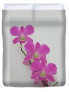 Pink Orchids 1 Duvet Cover
