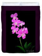 Pink Orchids 9 Duvet Cover