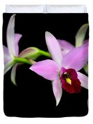Pink Orchids Cascading Duvet Cover