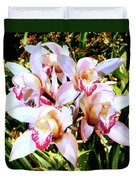 Pink Spirit Orchids Palm Springs Duvet Cover