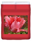 Pink Parrot Tulip Duvet Cover