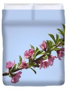 Pink Peach Blossoms Duvet Cover