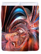 Pink Peacock Abstract Fx  Duvet Cover