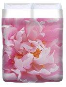 Pink Peony Flower Waving Petals  Duvet Cover