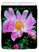 Pink Peony Garden  Duvet Cover