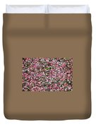 Pink Petals On Stones  Duvet Cover