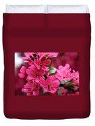 Pink Plum Blossoms Duvet Cover