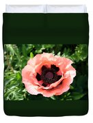 Pink Poppy Bloom Duvet Cover