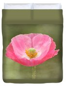 Pink Poppy Flower Duvet Cover