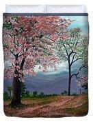 Pink Poui Duvet Cover