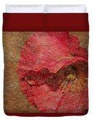 Pink Poppy Gold Leaf Duvet Cover