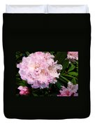 Pink Rhodies Duvet Cover