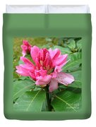 Pink Rhododendron Bud Duvet Cover