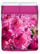 Rhododendron Called Azalea Bright Pink Flowers  Duvet Cover