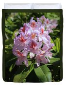 Pink Rhododendron In Sunshine Duvet Cover