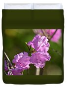 Pink Rhododendrons Duvet Cover