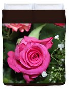 Pink Rose Adds Colour Duvet Cover