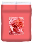Pink Rose Closeup Duvet Cover