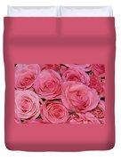Pink Rose Closeup Duvet Cover