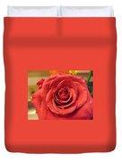 Pink Rose Drops Duvet Cover
