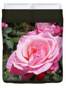 Pink Rose Flower Floral Art Prints Roses Duvet Cover