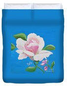 Pink Rose In Paint Duvet Cover