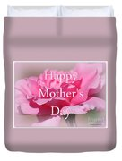 Pink Rose Mother's Day Card Duvet Cover