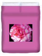 Rose With Touch Of Pink Duvet Cover