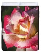 Pink Rose Painted  Duvet Cover