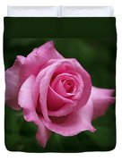 Pink Rose Perfection Duvet Cover by Rona Black