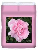 Pink Rose Square Duvet Cover