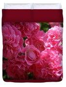 Pink Roses In Sunlight Duvet Cover