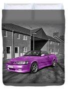 Pink Saab  Duvet Cover