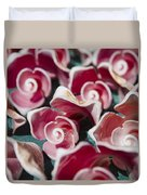 Pink Sea Shells On Cozumel Duvet Cover