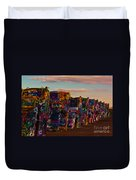 Pink Sky At Cadillac Ranch Duvet Cover