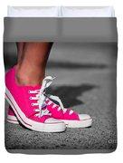 Pink Sneakers  Duvet Cover