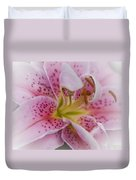 Pink Spotted Lily Duvet Cover