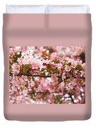 Pink Spring Apple Blossoms Duvet Cover